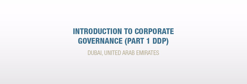 Introduction to Corporate Governance (Part 1 DDP)